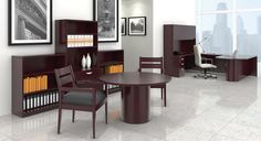 The Offices To Go Ventnor Furniture Collection offers a luxurious traditional look. This wood veneer line includes elegant desks, meeting tables, and professional storage solutions. Shop here: http://www.officeanything.com/Offices-To-Go-Ventnor-Furniture-s/584.htm
