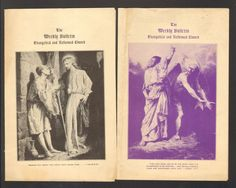Lot of 2 1944 Chuch Bulletin Trinity First Reformed Church York PA