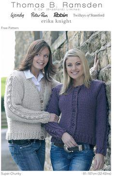 Ravelry: Super Chunky Cardigan pattern by Thomas B. Ramsden & Co. Free knitting pattern