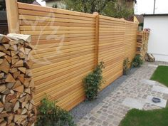 Elegant Sichtschutz Holz