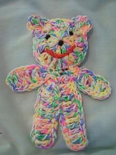 Small teddy for Charity - easy and nearly flat ~ free pattern