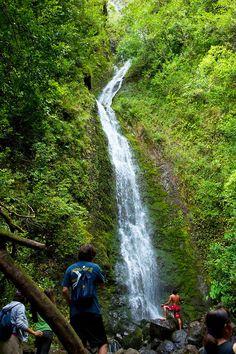 Lulumahu Falls, Lulumahu Valley, Nuuanau, Oahu, Hawaii http://nexttrip.com/tour/adventure-hawaii-vacation-tour