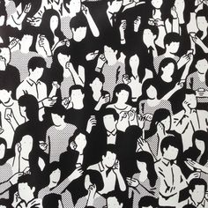 Pattern made of people using smartphones. Like!