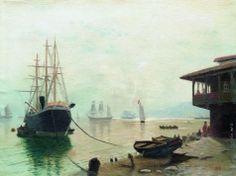 Лагорио Л. Ф. Парусники в гавани