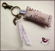 keychain or Cute idea to take a long for a sewing class or travel basket!
