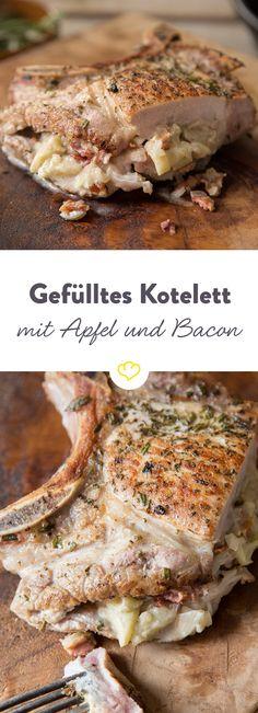 Wenn sich Apfel, Bacon und Blauschimmelkäse als Füllung zusammentun, stehlen sie deinem Fleisch sogar fast die Show. Besser kann's kaum noch werden.