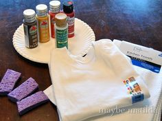 DIY Thanksgiving Fun:     Take the traditional elementary school project, the turkey handprint, and stick it on a t-shirt! No need to stop at t-shirts, either. Print aprons, kitchen towels, and more!   It's time to get your hands messy in fall colors :)   Check out the blog below for the easy steps:  http://www.maybematilda.com/2012/11/make-turkey-handprint-thanksgiving.html  #DIY #Paint #Crafts