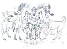 Baratheon Stags Sketch by Kisindian
