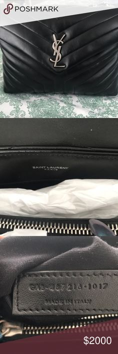 9054dedf896 Saint Laurent bag Black Leather YSL hand bag Got it for Christmas Yves  Saint Laurent Bags Totes