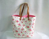 Pink Purse Tote Beach Tote Strawberry Tote Bag