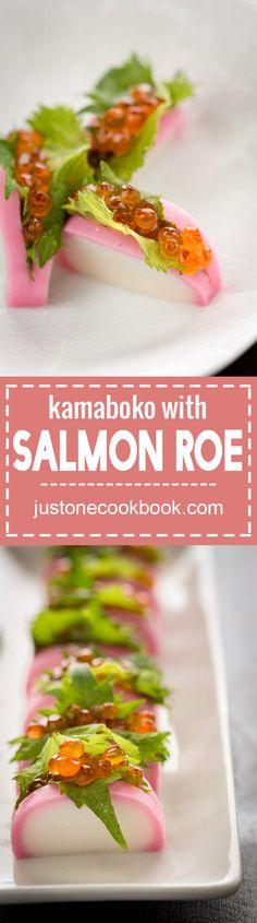 Kamaboko with Salmon Roe (蒲鉾いくらのせ)  | Easy Japanese Recipes at JustOneCookbook.com