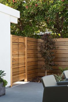 Patio wall and fence door
