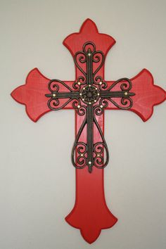 Decorative Crosses For Wall reserved for sandi decorative wall cross embellished brown blue