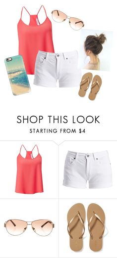 """Beach"" by jaycie-claire ❤ liked on Polyvore featuring Miss Selfridge, Barbour International, Fendi, Old Navy and Casetify"
