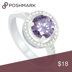🎉HP Sale🎉 Violetta's Debut Round Purple 6mm CZ with crystal zircon & silver plating. Lavender like shine to this bright cz stone. Second picture represents color of stone, stunngly sweet with the inlay in person.   🎉Best In Jewelry & Accessories 8/31/16 by @cattyo🎉   One available in each size - 6 & 8.  .Ask About Custom Bundles.  .Poshmark Rules Only. No Trades.  .Additional Pics Available as Time Allows. goodchic  Jewelry Rings