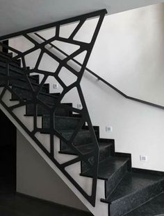 A attractive staircase is more than simply a path from one floor to the next: this picture staircase will certainly motivate you. Modern Stair Railing, Stair Railing Design, Stair Handrail, Staircase Railings, Modern Stairs, Spiral Staircase, Stairways, Railing Ideas, Stairs On Wheels
