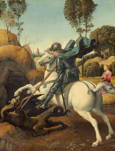 "koredzas: "" Raphael - Saint George and the Dragon. 1506 """