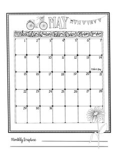 Monthly Journaling Calendars