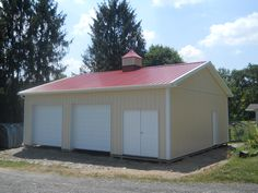 """Building Dimensions: 30' W x 32' L x 10' 6"""" H (ID# 394)  Visit: http://pioneerpolebuildings.com/portfolio/project/30-w-x-32-l-x-10-6-h-id-394-total-cost-14436  Like Us on Facebook! https://www.facebook.com/Pioneer.Pole Call: 888-448-2505 for any questions!"""