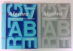 Algebra 1/2 Homeschool Packet & Test Forms 3rd Edition Saxon Math No Text Book #WorkbookStudyGuide