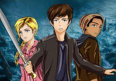 LeBishoujo - Percy Jackson, Annabeth Chase, and Grover Underwood