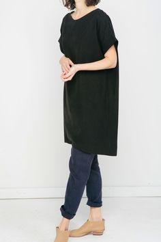 Georgia Dress in Raw Silk Broadcloth – Elizabeth Suzann