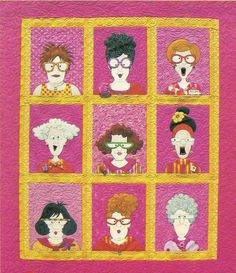 Make your own quilty friends with the 35 page e-pattern from Amy Bradley Designs for $5.  Pattern link: http://amybradleydesigns.com/quye.html
