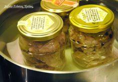 κονσέρβα τόνου 9 Cucumber, Mason Jars, Beef, Handmade, Food, Meat, Hand Made, Essen, Mason Jar