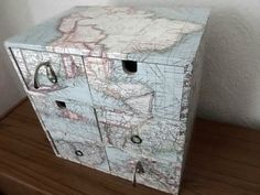 IKEA-MOPPE-MINI-CHEST-OF-DRAWERS-DESK-STORAGE-HAND-DECORATED-RETRO-SHABBY-CHIC