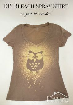 DIY: Bleach Spray Shirt