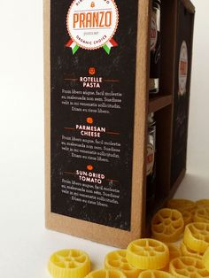 Great student project packaging for an Italian dinner.