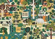 Jungle – Illustration – H.  Wagenbreth for Nobrow Magazine, 2009