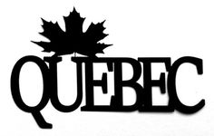 Quebec Scrapbooking Laser Cut Title with maple leaf