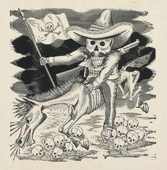 José Guadalupe Posada, La Gran Calavera de  Emiliano Zapata (The Great Skeleton of Emiliano Zapata), from  the portfolio Monografia: Las obra...