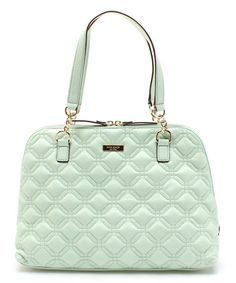 Love this Faded Mint Astor Court Leather Shoulder Bag by Kate Spade on #zulily! #zulilyfinds