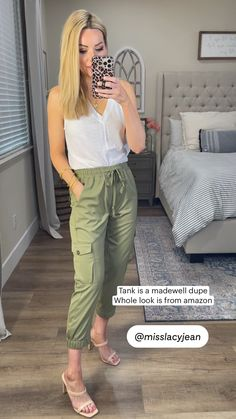 Tank is a madewell dupe Whole look is from amazon