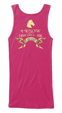 I Know I Ride Like A Girl Berry Women's Tank Top Back