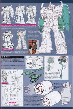 Mobile Suit Gundam The Origin - Katoki Hajime Mechanical Archives [Updated Japanese Robot, Gundam Mobile Suit, Gundam Art, Custom Gundam, Super Robot, Robot Design, Gundam Model, Designs To Draw, Science Fiction