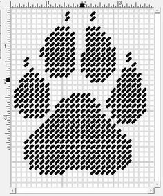 WOLF PAW PRINT - PLASTIC CANVAS PATTERN | Wolves PC ...