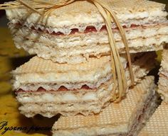 Wafle cytrynowe Bulgarian Recipes, Sweets Cake, Bread, Cakes, Food, Cake Makers, Brot, Kuchen, Essen