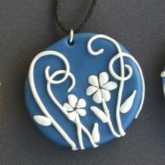 Polymer Clay flower medallion