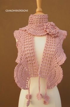 Collette Scarf Shawl-Blossom by gsakowskidesigns on Etsy