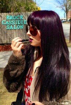 Purple Violet Hair Color. #hairbrittanyabbott, #brockcassidiesalon, #purplehair