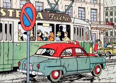 El asunto Tornasol - Simca Aronde 1954 y Tranvía de Ginebra