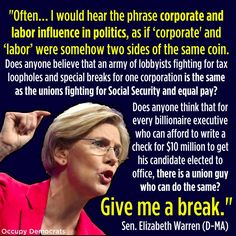 A Wise Statement By Elizabeth Warren