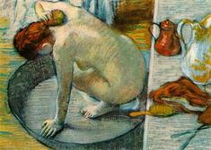 This is one of my favorite pieces by Degas (The Tub). I absolutely love pastels and Degas' work is the best example of the medium. His line and color are superb.