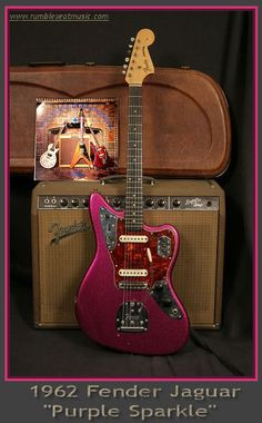 Fender Electric Guitar, Fender Guitars, Fender Vintage, Vintage Guitars, Guitare Fender Stratocaster, Fender Jaguar, Jim Morrison Movie, Purple Sparkle, Thrash Metal