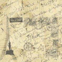 wall paper french country writing - Google Search