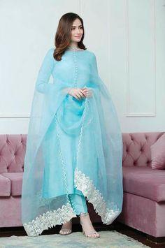 Indian Pakistani Outfit Dress kameez top with Pant Slim bottom   Etsy Simple Pakistani Dresses, Pakistani Dress Design, Pakistani Outfits, Indian Outfits, Indian Fashion Dresses, Dress Indian Style, Indian Designer Outfits, Muslim Fashion, Hijab Fashion