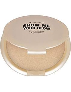 Natural Face Glow Highlighter Makeup:Elizabeth Mott Show Me Your Glow Shimmer Shadow and Highlighter-Illuminating Pearl Highlight-Paraben and Cruelty Free-Compact Powder Highlighters,